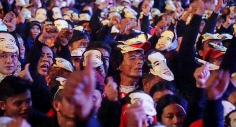 pelantikan Jokowi Lantik 7000 Jokowi di Pergudangan Olympic Bogorindo