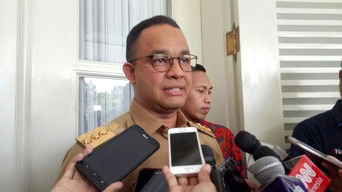 Gubernur DKI Jakarta Anies Baswedan di Balai Kota
