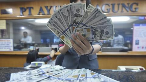 Rupiah melemah terhadap dolar.