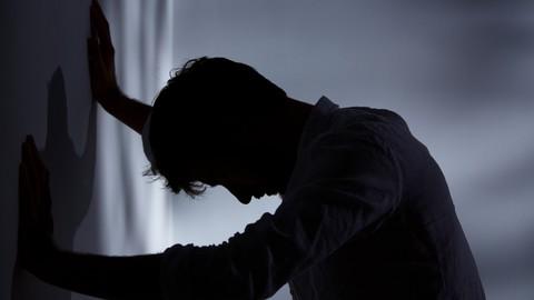 Ilustrasi orang depresi.