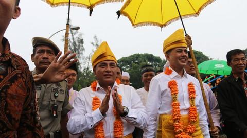 Penyambutan Gubernur Sumatera Utara, Edy Rahmayadi dan Wakil Gubernur Sumatera Utara Musa Rajekshah