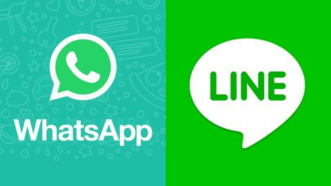 Ilustrasi Whatsapp dan Line