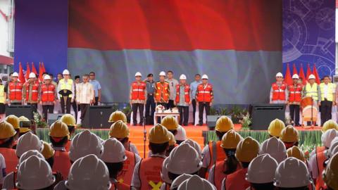 Jokowi, sertifikasi tenaga kerja Konstruksi Indonesia, JIExpo