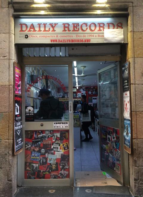 Salah satu toko vinyl di Barcelona