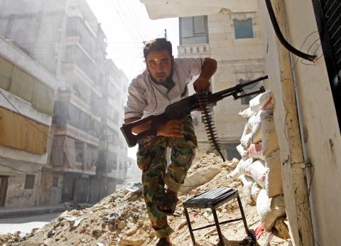 Tentara Suriah di Aleppo