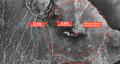 Zona Perkiraan Bahaya Gunung Agung
