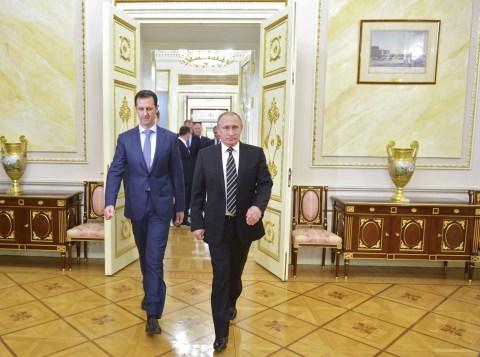 Presiden Suriah dan Presiden Rusia