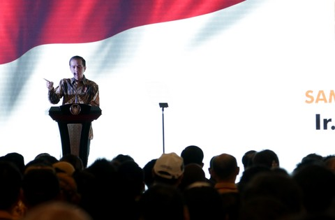 Jokowi dalam Acara Munaslub Partai Hanura