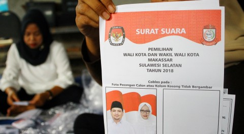 Surat Suara Pilwalkot Makassar