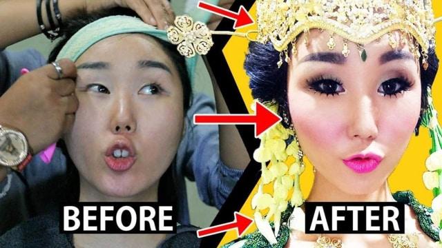 Lakukan Eksperimen Vlogger Asal Korea Ini Dirias Ala Pengantin