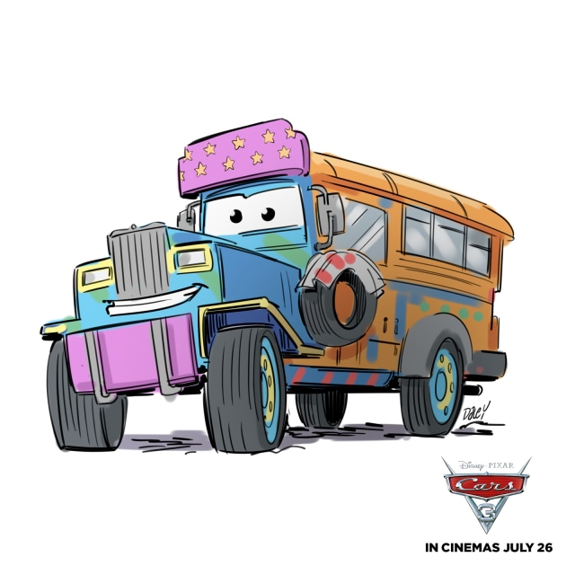 efc271ee2c Jeepney di Film Cars 3 (Foto  Dok. Disney Pixar Pulse Communication -  Ogilvy ). Selain bajaj ...