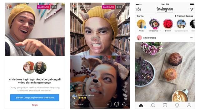 Kamu Sekarang Bisa Live Di Instagram Bareng Teman Begini Caranya