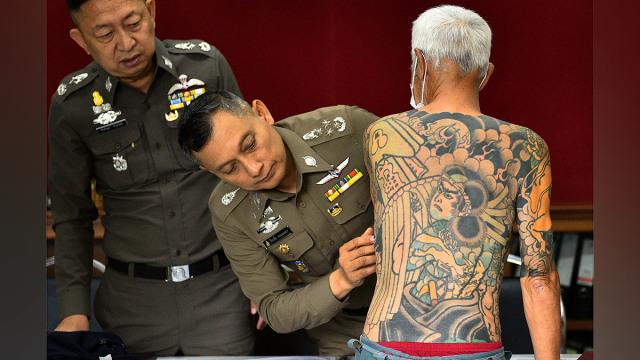 Foto Tato Tersebar Bos Yakuza Jepang Ditangkap Di Thailand