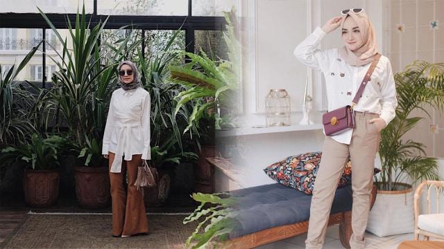 Cantiknya Padu Padan Busana Warna Putih Ala 7 Selebgram Hijab