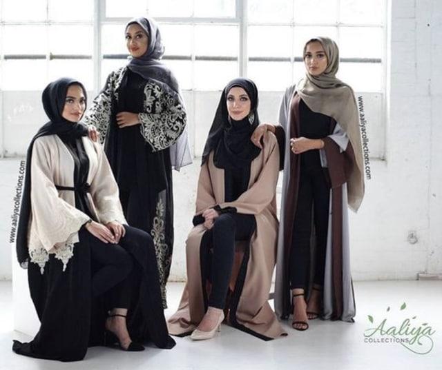 Model Baju Gamis Terbaru Lebaran 2018 88