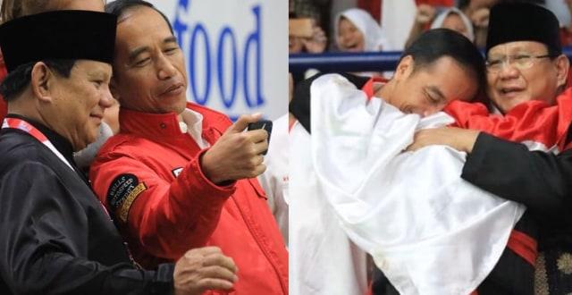 Beda Gaya Jokowi Dan Prabowo Tanggapi Momen Pelukan Hanifan