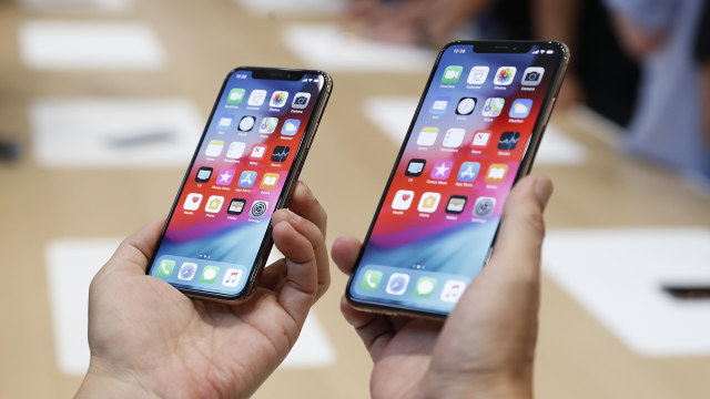 iPhone XS dan iPhone XS Max. (Foto  Stephen Lam Reuters) 471774db76