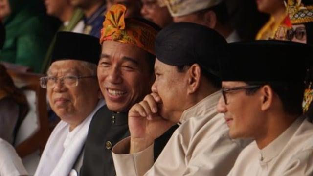 Survei Kompas: Jokowi-Ma'ruf Mulai di Bawah 50%, Prabowo-Sandi Menguat