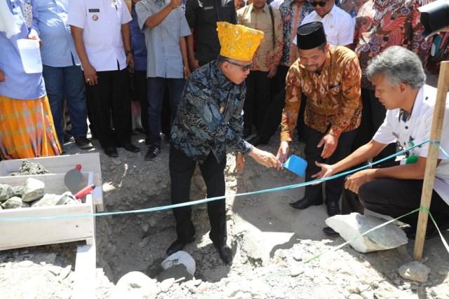 Masyarakat Aceh Bangun Masjid Di Palu Perpaduan Dua Rumah Adat