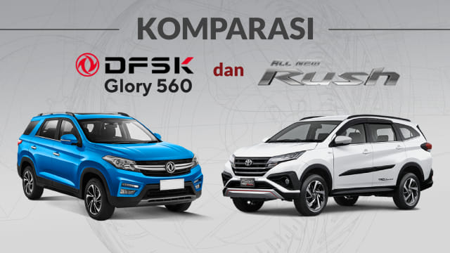 Infografik: Tarung DFSK Glory 560 Vs All New Toyota Rush