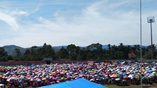 Ribuan Anak Di Limapuluh Kota Ikuti Lomba Mewarnai Gambar Jokowi